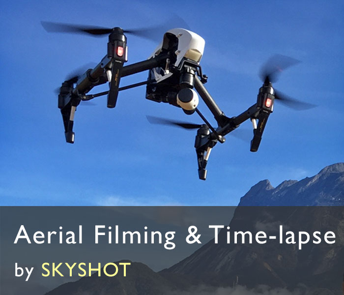 aerial filming with drones - skyshot