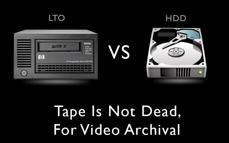 LTO tape is not dead for video archival